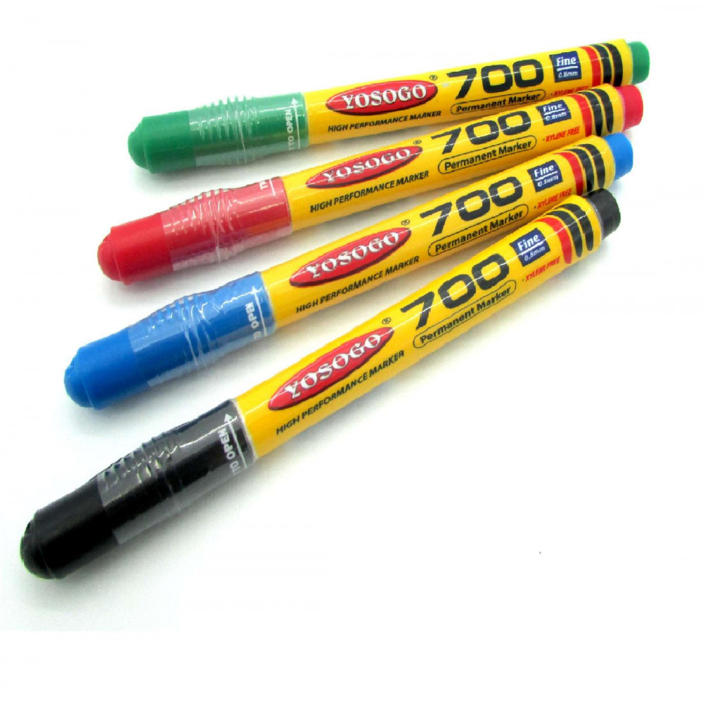 Yosogo Permanent Marker Mini Marker Pocket Size Marker Pens 700 Fine Nib 0.8mm