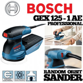 image of 125MM 250W BOSCH GEX125-1AE Random Orbit Sander