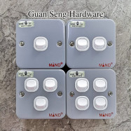 image of Industrial Metal Clad Switch [ 1 Gang | 2 Gang | 3 Gang | 4 Gang ] (SIRIM Approved)