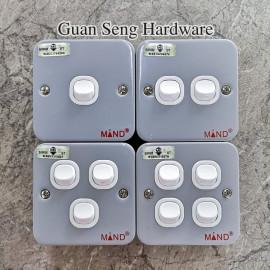 image of Industrial Metal Clad Switch [ 1 Gang | 2 Gang | 3 Gang | 4 Gang ] (SIRIM Approved)