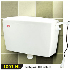 image of Techplas 1001-HL Techplas II Low Level Plastic Cistern 9 liters (WHITE)