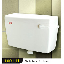 image of Techplas 1001-LL Techplas Low Level Plastic Cistern 9 liters (WHITE)