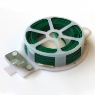 image of PVC GREEN COVERED WIRE TWIST TIE