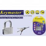 KEYMASTER 40MM/50MM K300 CHROME BRASS PADLOCK