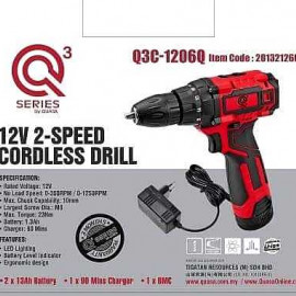 image of QUASA Q3C-1206Q 12V 2-Speed Cordless Drill