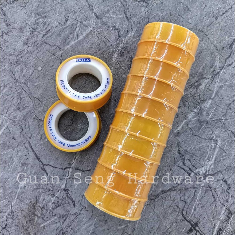 PTFE PVC Thread Sealing Tape 12mm x 0.075mm