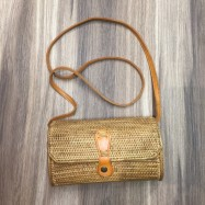 image of Hand-Woven Long Rattan Shoulder Bag