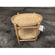image of Bamboo 2 layer shelf