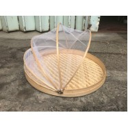 image of Rattan Food Container with Net