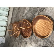 image of Rattan Food Container with Net - 3 sizes