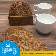 image of 【Express Delivery】Rattan Coaster Set (6 pcs)