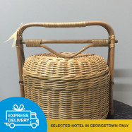 image of 【Express Delivery】Rattan Basket with cover