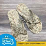 image of 【Express Delivery】Rattan Handmade Shoes (Flip Flops)