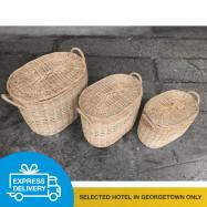 image of 【Express Delivery】Oval Shape Laundry Basket (5 sizes)