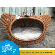 image of 【Express Delivery】Rattan Kitty Shape Pet House