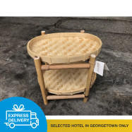image of 【Express Delivery】Bamboo 2 layer shelf
