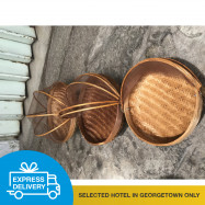 image of 【Express Delivery】Rattan Food Container with Net - 3 sizes