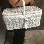 White Rattan Basket