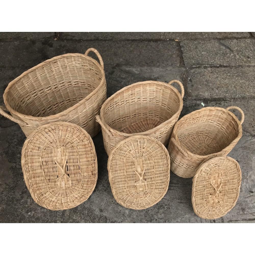 Oval Shape Laundry Basket (5 sizes)