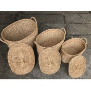 image of Oval Shape Laundry Basket (5 sizes)