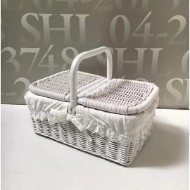 image of White Rattan Basket