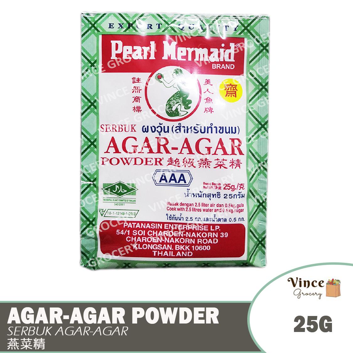 image of PEARL MERMAID BRAND Agar-Agar Powder [AAA] | Serbuk Agar-Agar | 超级燕菜精 25G