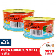 image of LONGFONG Pork Luncheon Meat 龙凤牌午餐肉 397G X 2 CANS