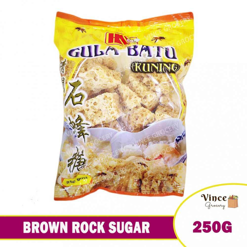 HS Brown Rock Sugar 石蜂糖 250G