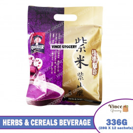 image of QUAKER Herbs & Cereals Beverage (Black Rice & Purple Yam Mixed Cereals) 336G