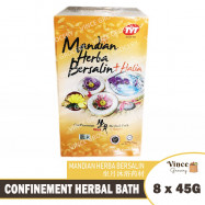 image of TYT Confinement Herbal Bath + Ginger | 坐月沐浴药材 + 姜 8s X 45G