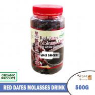 image of GREEN BIO TECH Red Date Molasses Drink 黑糖红枣茶 500G