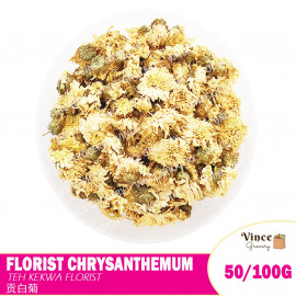 image of Florists Chrysanthemum Flower Tea | Teh Bunga Kekwa Florists | 贡白菊茶 50/100G