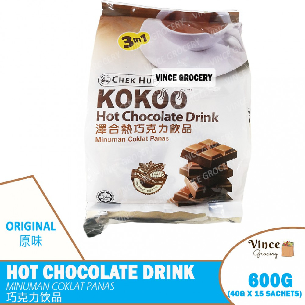 CHEK HUP Kokoo Hot Chocolate Drink | 泽合热巧克力饮品 15s X 40G