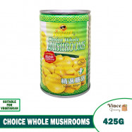 image of SUNCITY Choice Whole Mushrooms 425G