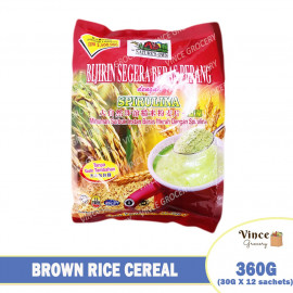 image of NATURE'S OWN Instant Brown Rice Cereal With Spirulina (No Sugar) 360G