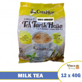 image of CHEK HUP Teh Tarik Halia 3 In 1 Heritage Ginger Milk Tea 12 X 40G