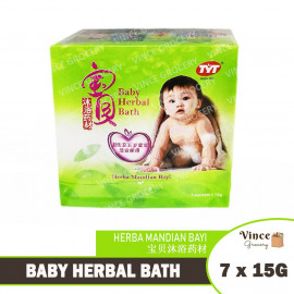 image of TYT Baby Herbal Bath | Herba Mandian Bayi | 宝贝沐浴药材 7s X 15G