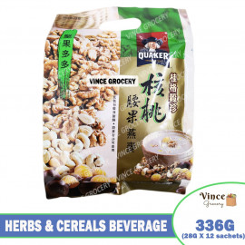 image of QUAKER Herbs & Cereals Beverage (Hazelnuts, Cashew Nuts & Oats) 336G