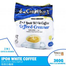 image of CHEK HUP 2 In 1 Ipoh White Coffee & Creamer   泽合二合一怡保白咖啡 12s X 30G