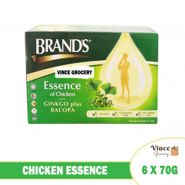image of BRAND'S Chicken Essence With Ginkgo Plus Bacopa 6 X 70G