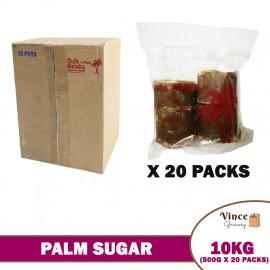 image of Palm Sugar (Gula Melaka) 椰糖 10KG (0.5KG X 20 Packs)