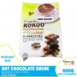 image of CHEK HUP Kokoo Hot Chocolate With Hazalnut | 泽合榛果热巧克力饮品 15s X 40G