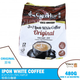 image of CHEK HUP 3 In 1 Ipoh White Coffee Original | 泽合三合一怡保白咖啡原味 12s X 40G