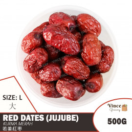 image of Red Dates (Jujube) L | Kurma Merah L | 若羌红枣 (大) 500G