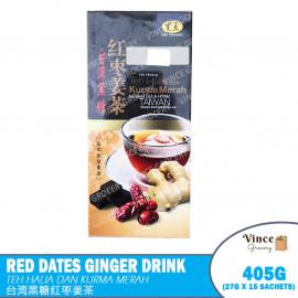 image of HEI HWANG Red Dates Ginger Drink | 黑王台湾黑糖红枣姜茶 405G