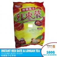 image of RED FLAG BRAND Instant Red Date & Longan Tea | 红旗牌桂圆莲子红枣茶 160G