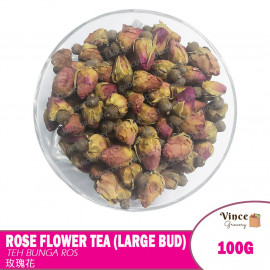 image of Rose Flower Tea (Large Bud) | Teh Bunga Ros | 玫瑰花茶 100G
