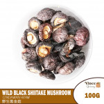 Wild Black Shiitake Mushroom | 野生黑金菇 100G