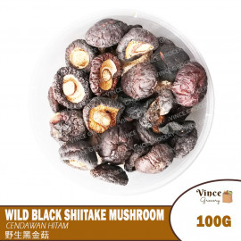 image of Wild Black Shiitake Mushroom | 野生黑金菇 100G