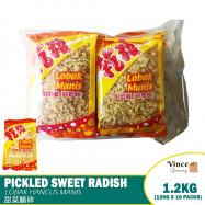 image of [WHOLESALE] Pickled Sweet Radish   Lobak Hancur Manis   甜菜脯碎 120G X 10 Packs
